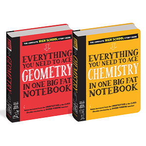 chemistry book, geometry, high school, study guide
